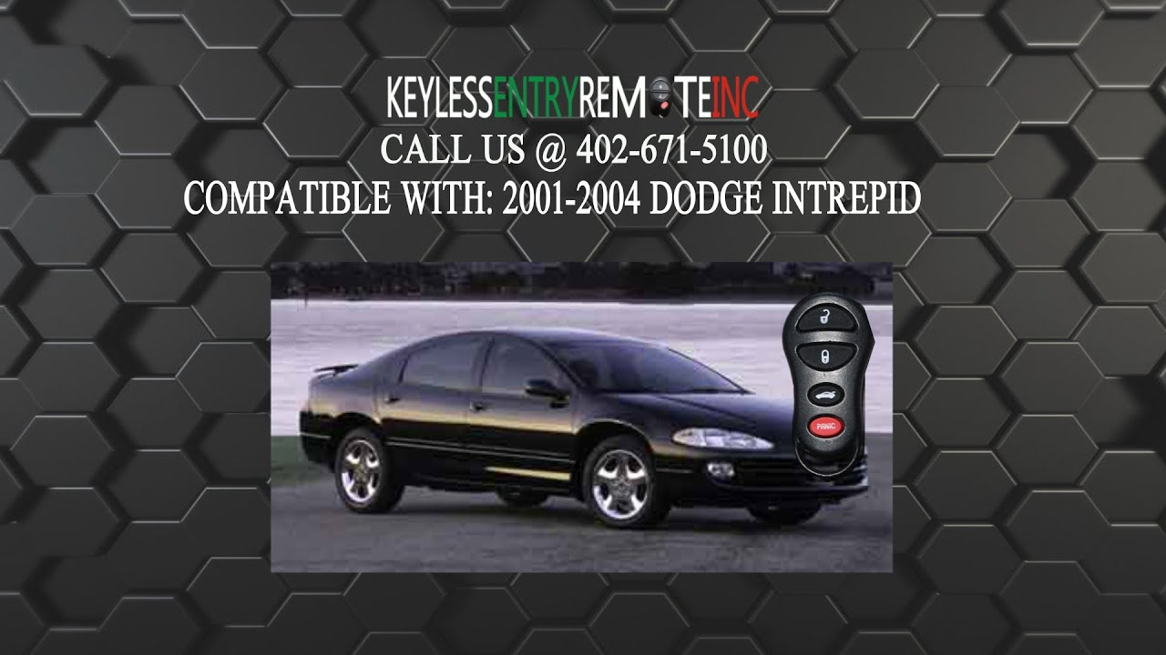 How to replace dodge intrepid key fob battery 2001 2002 2003 2004