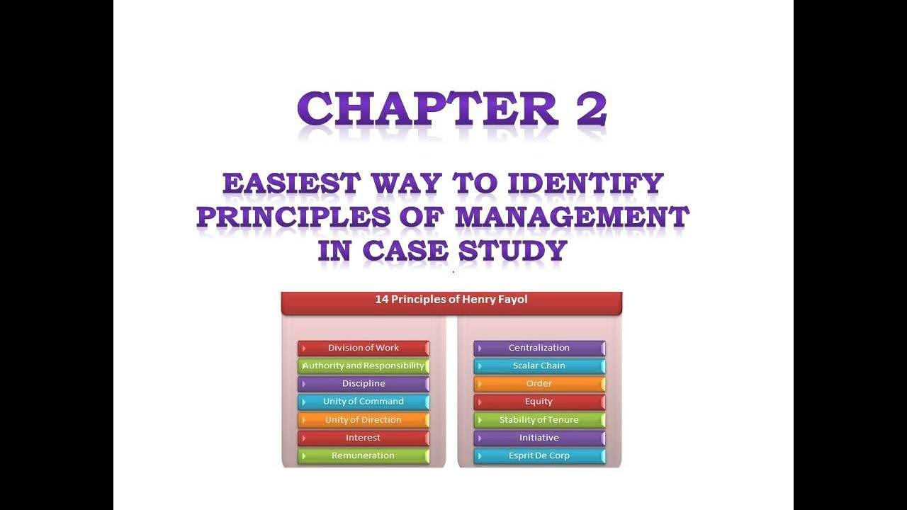 case study on 14 principles of management