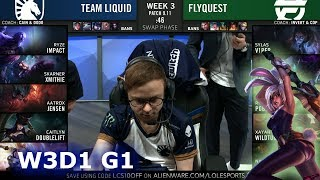 TL vs FLY  Week 3 Day 1 S9 LCS Summer 2019  Team Liquid vs FlyQuest W3D1