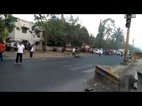 Accident at shahu nagar pimpri chinchwad pune