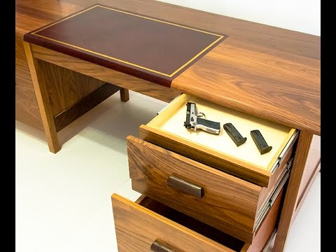 QLine Tactical Desk With Secret Hidden Compartments