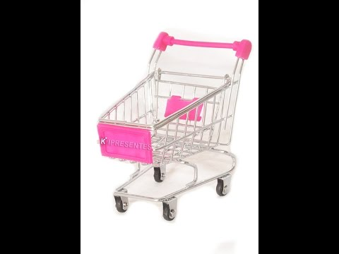 6f7b535e85 Miniatura Carrinho de Mercado Rosa - YouTube
