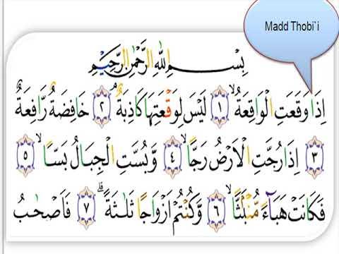Belajar Quran Surat Al Waqiah Latihan Baca Tajwid