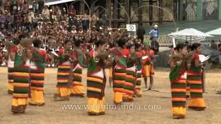 Dimasa-Kachari plate dance at Hornbill Festival