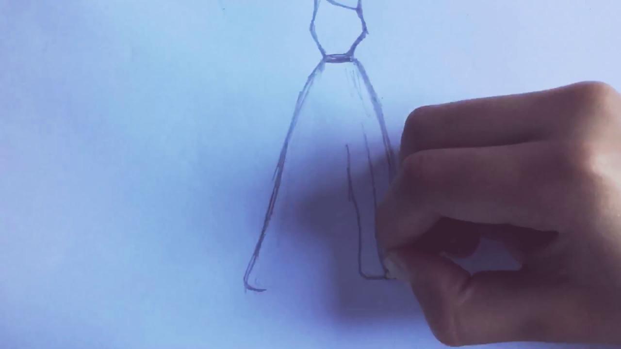 hoe teken je een jurk
