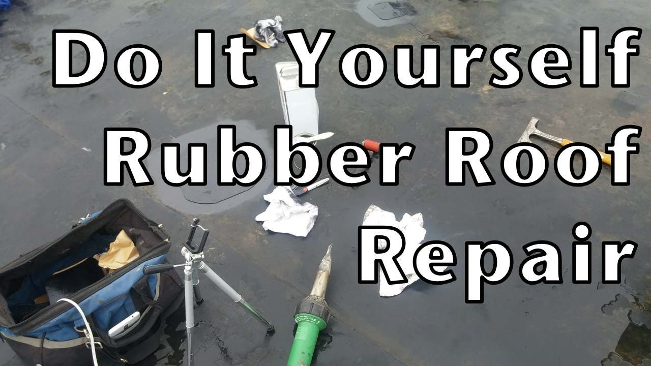 Repair rubber roof in the winter youtube