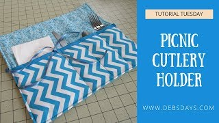 How to Sew an Easy Picnic and Camping Cutlery Roll