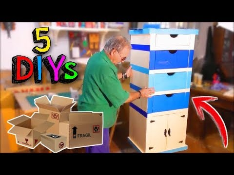 5  COOL CARDBOARD CRAFTS AND IDEAS