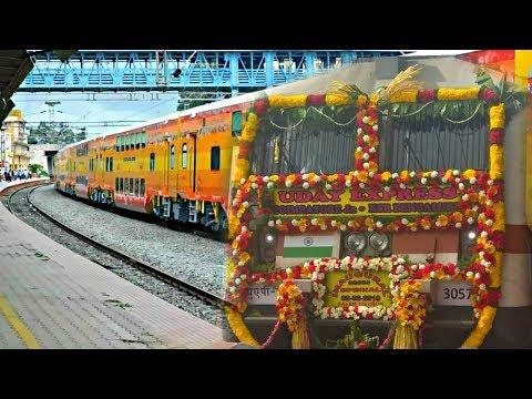 First Uday Express with Beautifully Decorated WAP 7 Cauvery | Inaugural Run | Coimbatore Bengaluru