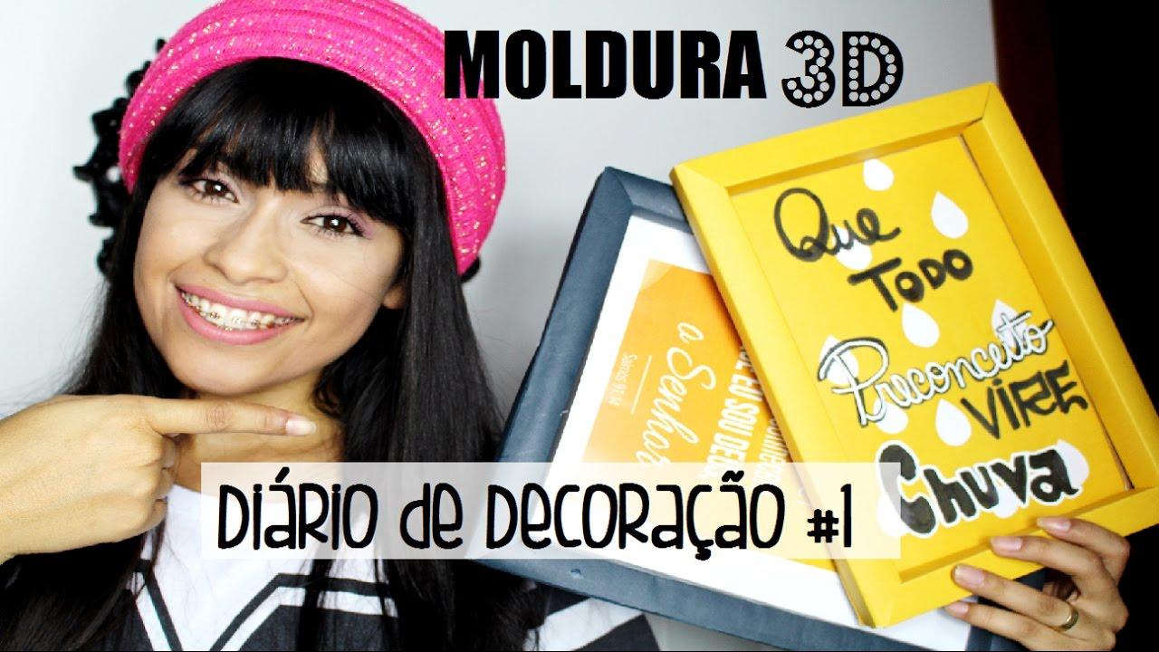 2dd2a25fe DIY  COMO FAZER MOLDURA DE QUADRO com Papel Cartão para Decorar ...