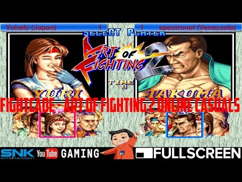 Fightcade [HD] - yohefc (JAPAN) vs. spectronet (Venezuela) - Art of Fighting 2 Online Casuals