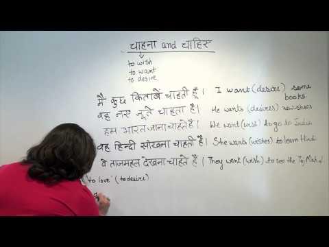 Hindi Grammar: Expressing wants, needs and desires