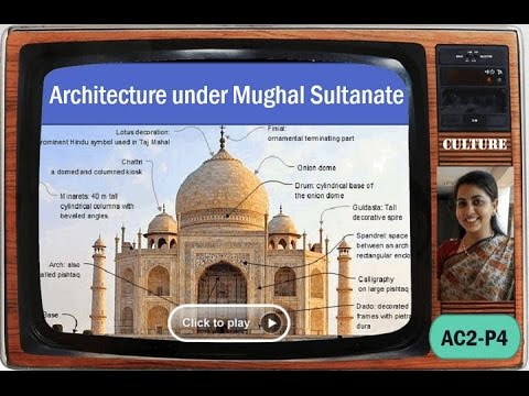 AC2/P4: Medieval Architecture: Mughal Sultanate - domes, tombs, mosques