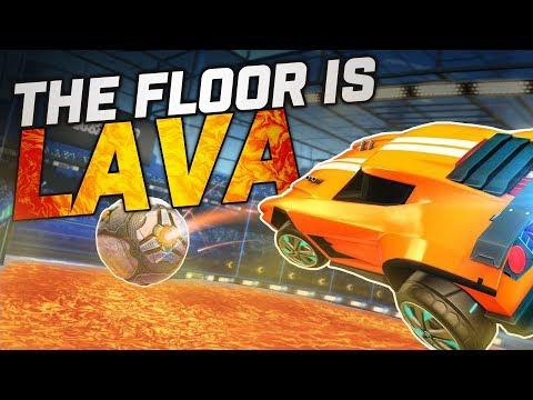El suelo es LAVA | Retos en Rocket League thumbnail