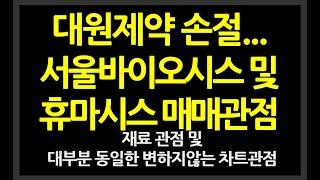 [주식] 대원제약 손절 및 휴마시스 서울바이오시스 매매…