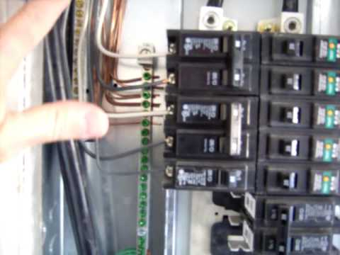 Houston Home Inspection  Electric Sub Panel Done Right  YouTube