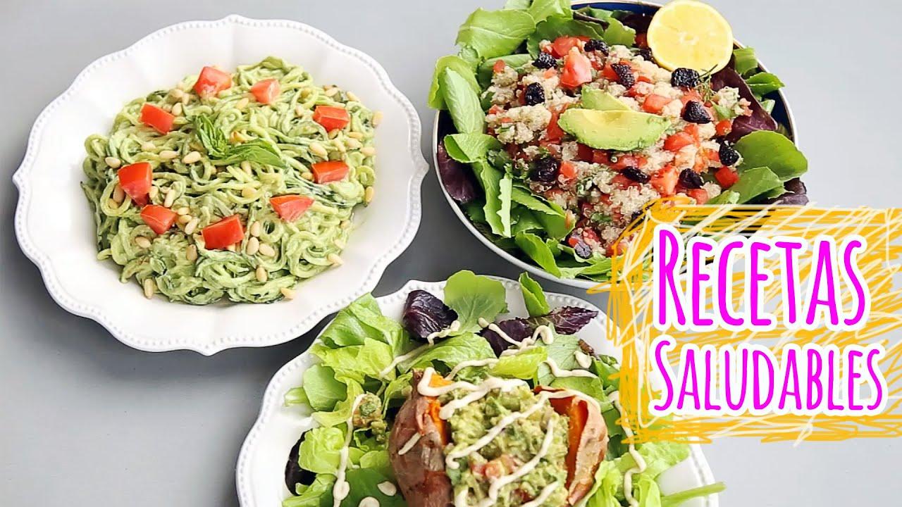 Cenas R Pidas Y Saludables 3 Recetas Saladas Youtube - Cenas Rapidas ...