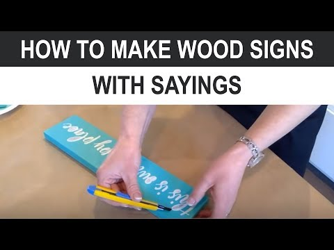 How to Make Wood Signs With Sayings (EVEN IF YOU ARE NOT CREATIVE)