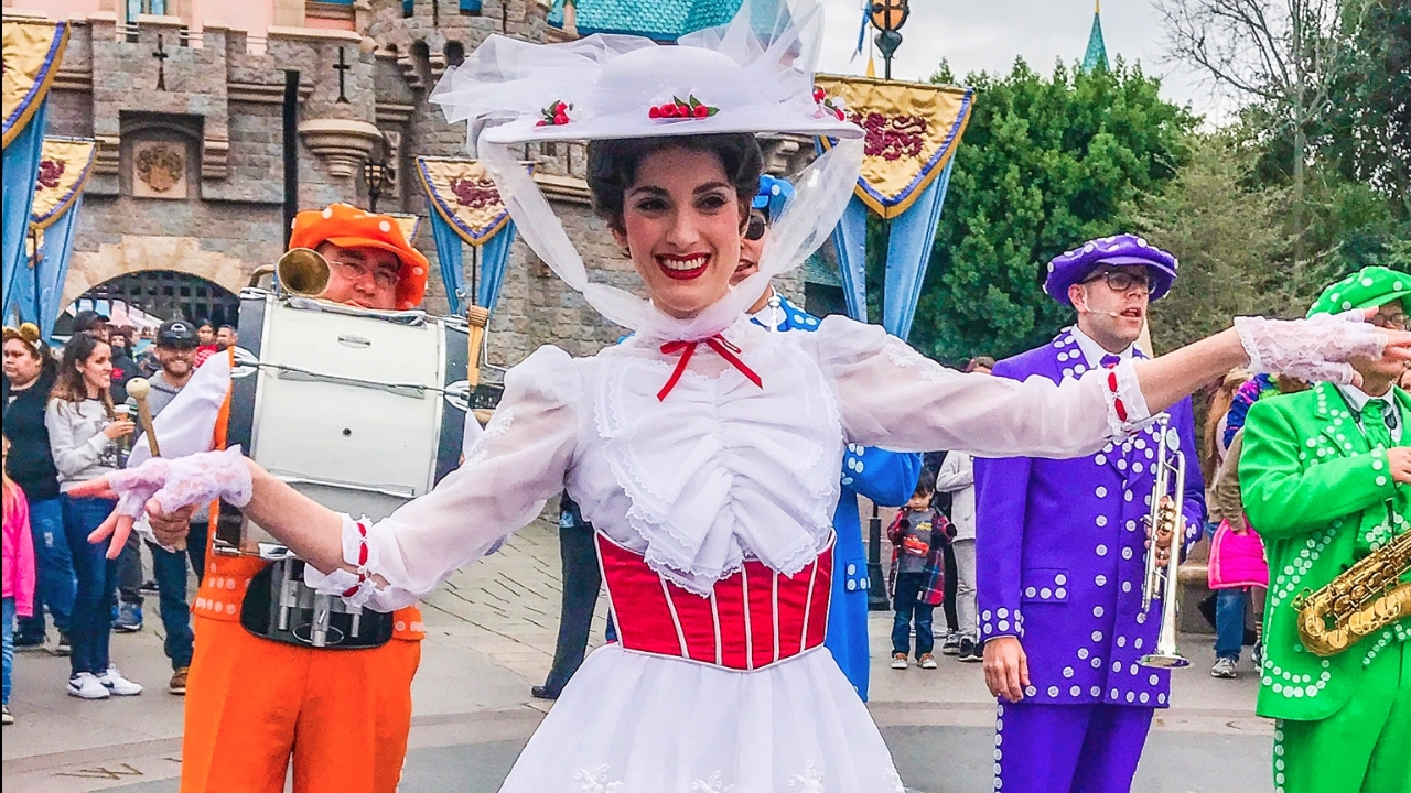 Mary Poppins And The Pearly Band At Disneyland Youtube