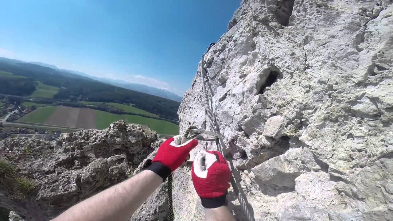 Klettersteig Türkensturz : Pittentaler klettersteig youtube