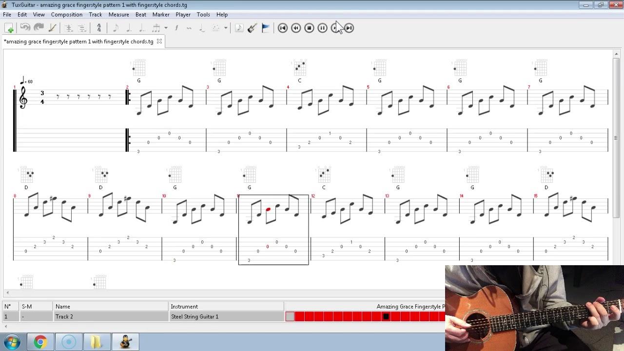 Amazing Grace Fingerpicking Beginners- Fingerpicking Play Along 1