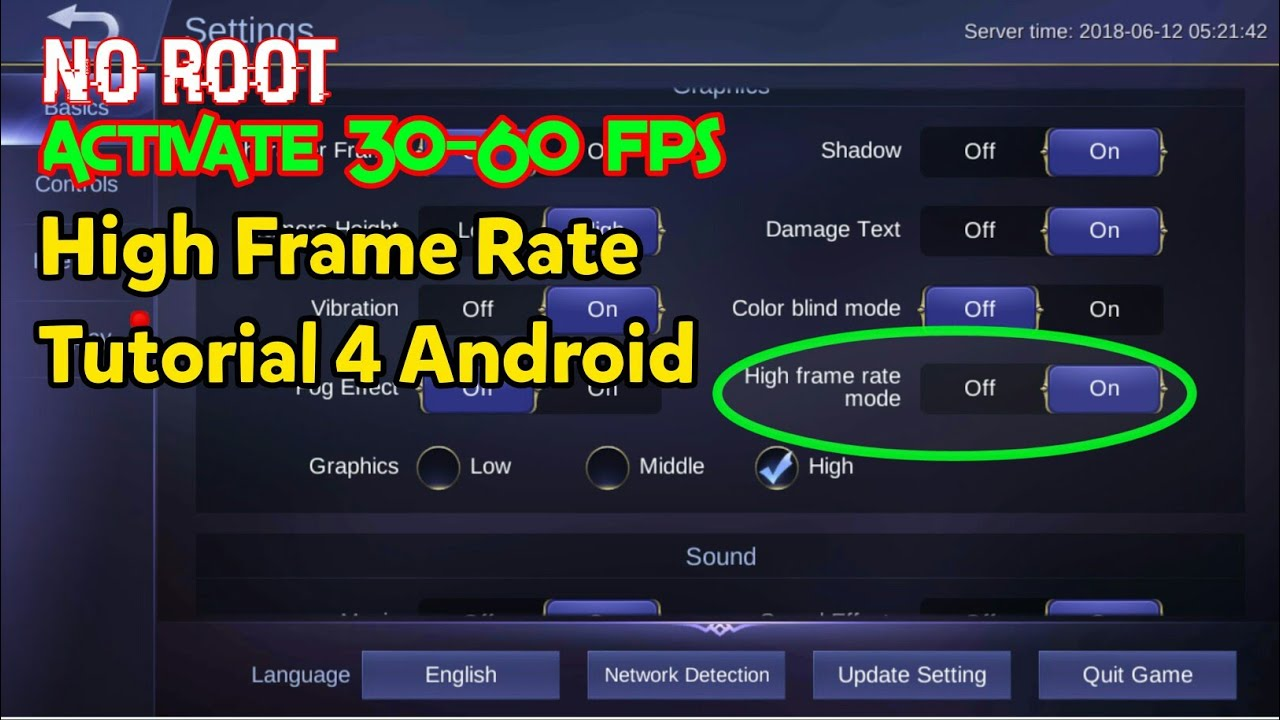 Activate High Frame Rate Mode on Mobile Legends, No Root