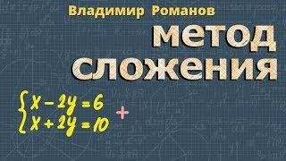 решение СИСТЕМ уравнений МЕТОДОМ СЛОЖЕНИЯ алгебра 7 класс