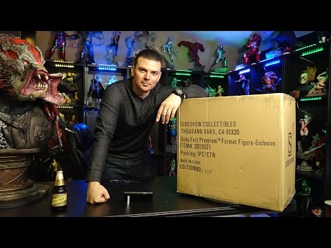 BOBA FETT premium format figure UNBOXING from Sideshow Collectibles STAR WARS