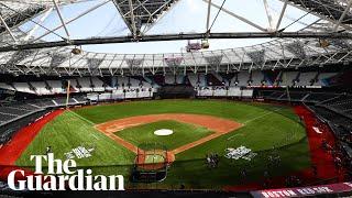 Yankees v Red Sox: London Stadium turf transformed for baseball game