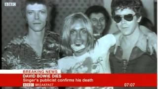 BBC Breaking News - David Bowie Confirmed Dead (Monday 11th January 2016)