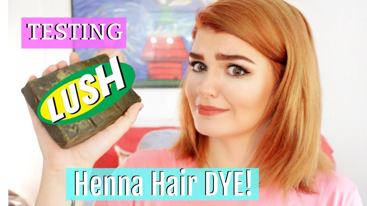 Testing Lush Caca Rouge Henna Hair Dye Youtube