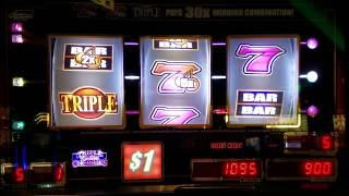 BIG WIN  Triple Golden Cherries Slot Machine 7s Line Hit !!!! Live Play MAX BET 🤑🤑