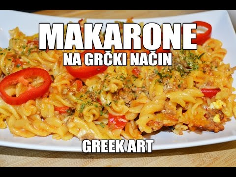 RECEPT: MAKARONE sa MESOM na GRČKI način (KAKO SE SPREMA) sa pripremom i sastojcima