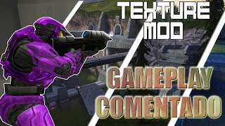 Gameplay COMENTADO!?   Halo:CE TEXTURE MOD BY:KINNET Test