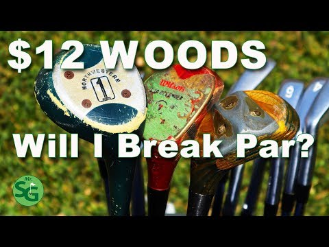 Can I Break Par Using $12 Wooden Clubs?  Can Old Clubs Help Your Game?