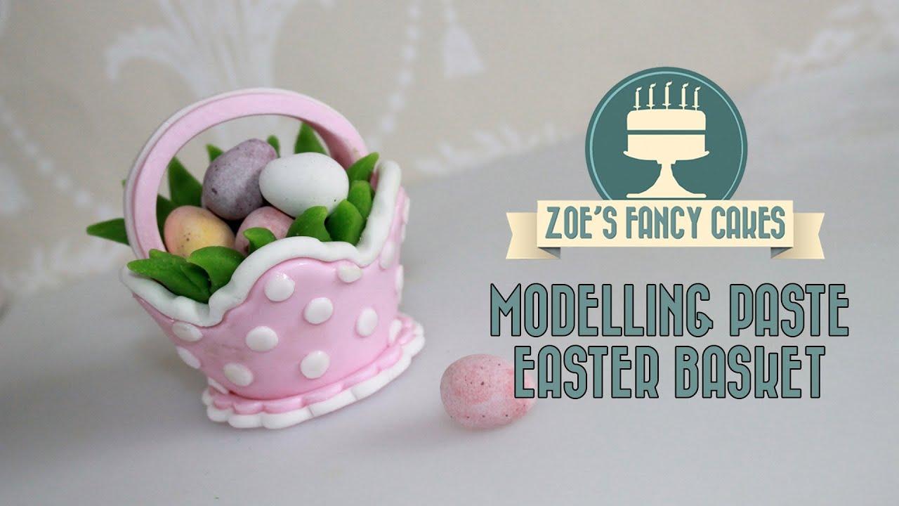 Easter Cake Decorating Challenge : Modelling paste Easter basket cake topper for mini eggs ...