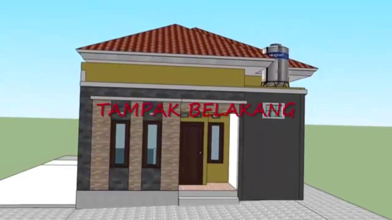 Desain Rumah Minimalis Sederhana 1 Lantai 3 Kamar Tidur 7 X 12 Youtube