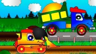 Мультфильмы для детей - Рабочие машины - Ремонт дороги