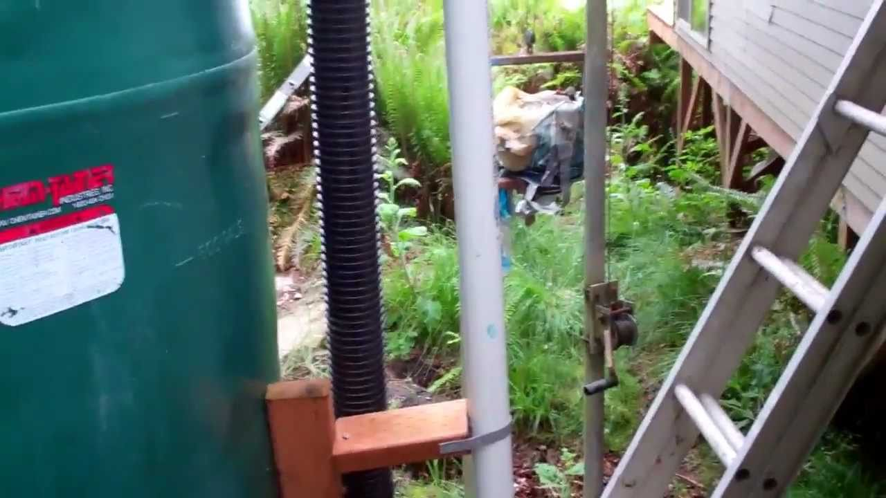 Off Grid Cabin Rainwater Collection.mp4 - YouTube