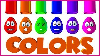 Learn Colors With Eggs And Balls | Colorful 3D Eggs For Toddlers | Pabnu TV
