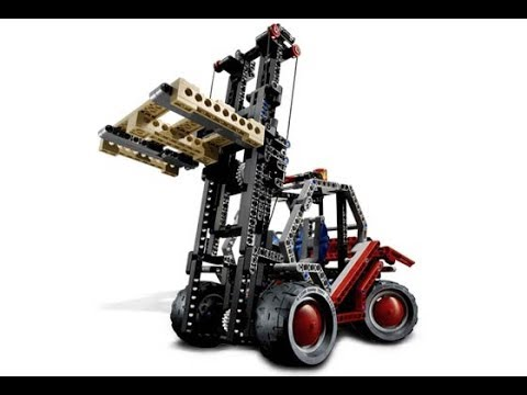 Lego Technic 8416 Forklift Instructions With Part List Year 2005