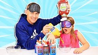 Blindfolded Slime PRANK Challenge!!! **Dad CHEATED!** | JKrew