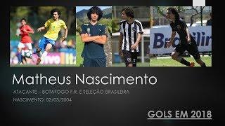 Cover images Matheus Nascimento - Atacante (2004) - Botafogo F.R. e Seleção Brasileira - Gols em 2018