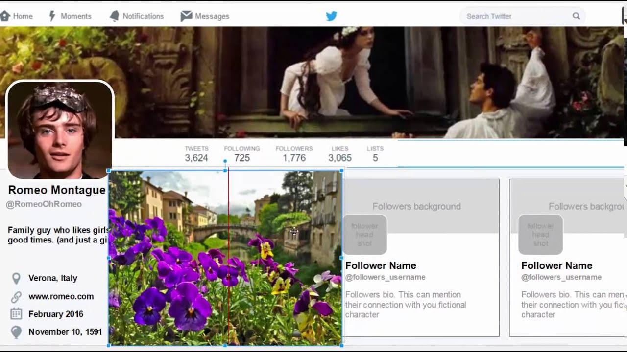 Fictional Twitter Profiles