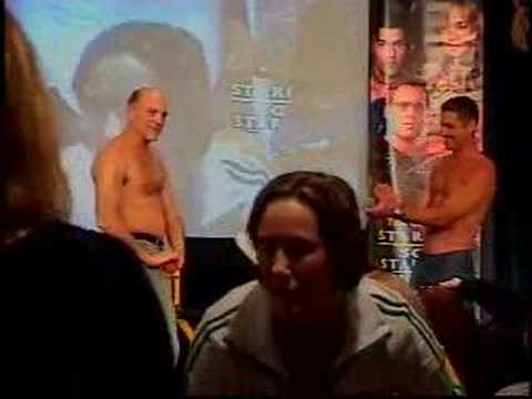Cliff Simon & Carmen Argenziano take shirts off