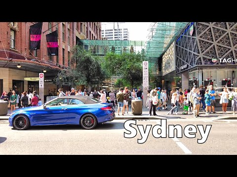 Walking From World Square To Pitt Street Mall Sydney Australia (December 2019)