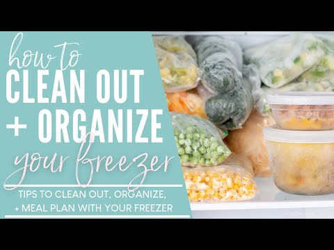 FREEZER CLEAN OUT! How to Clean Out, Organize, & Meal Plan With Your Freezer!