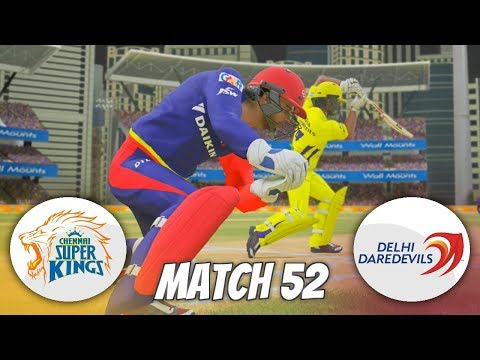 INDIAN PREMIER LEAGUE 3rd EDITION GAMING SERIES - MATCH 52 - CHENNAI SUPER KINGS v DELHI DAREDEVILS