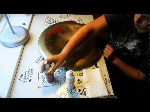 How To Clean Cymbals - Without Destroying The Logo (720p HD)