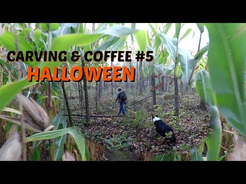 Carving A Halloween Ghost -Carving & Coffee #5